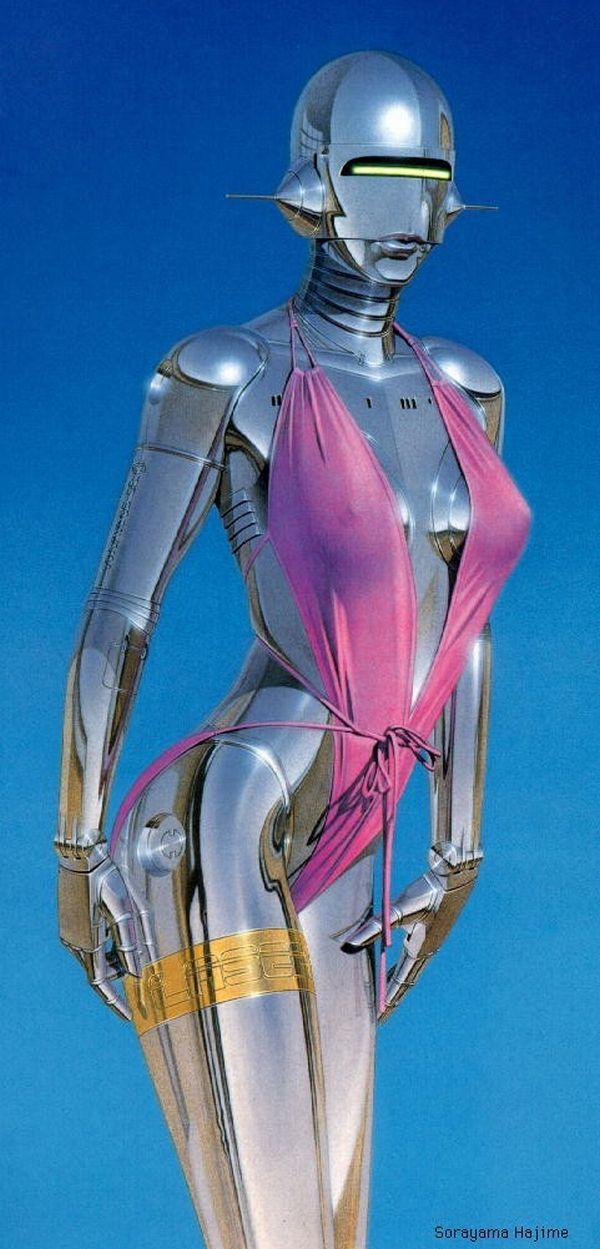 Erotic drawings by Japanese artist Hajime Sorayama - 56