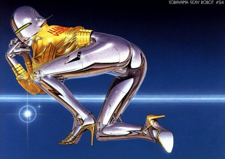 Erotic drawings by Japanese artist Hajime Sorayama - 57