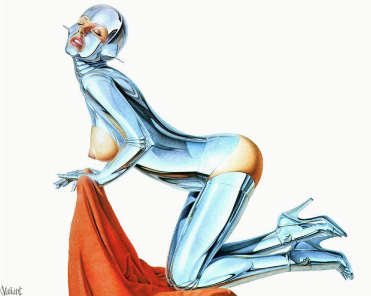 Erotic drawings by Japanese artist Hajime Sorayama - 59