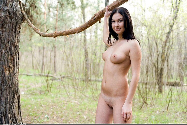 Photoshoot of pretty Pocahontas outdoors - 02