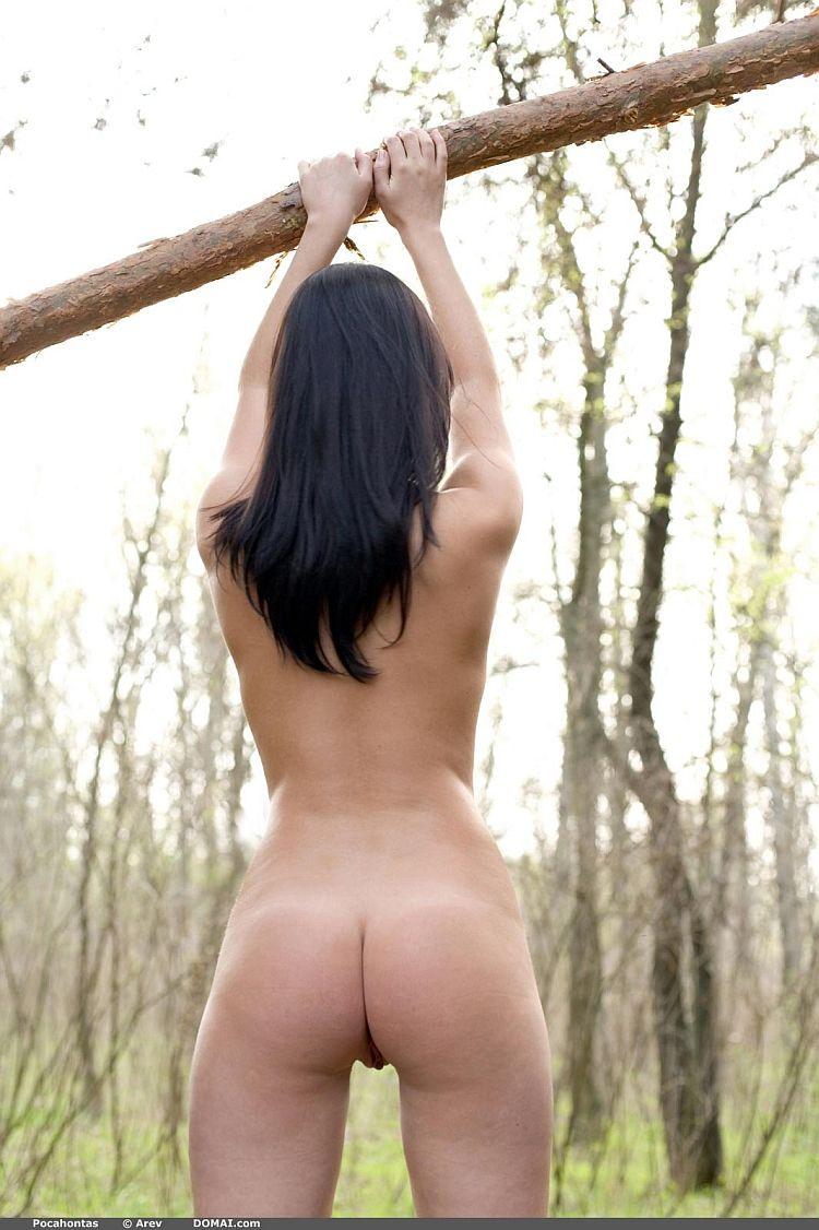 Photoshoot of pretty Pocahontas outdoors - 03