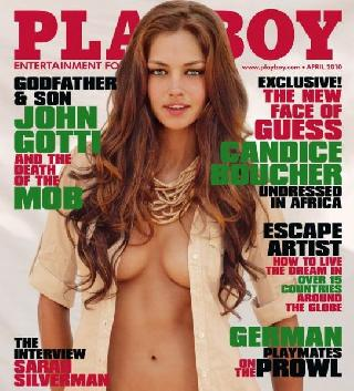 The South African model Candice Boucher in Playboy