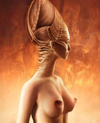 Unusual pictures with erotic elements