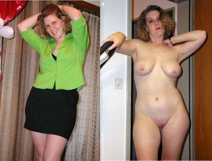 Girls with and without clothes - feel the Difference - 31