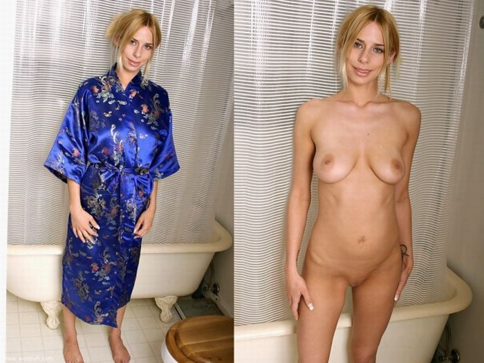 Girls with and without clothes - feel the Difference - 32