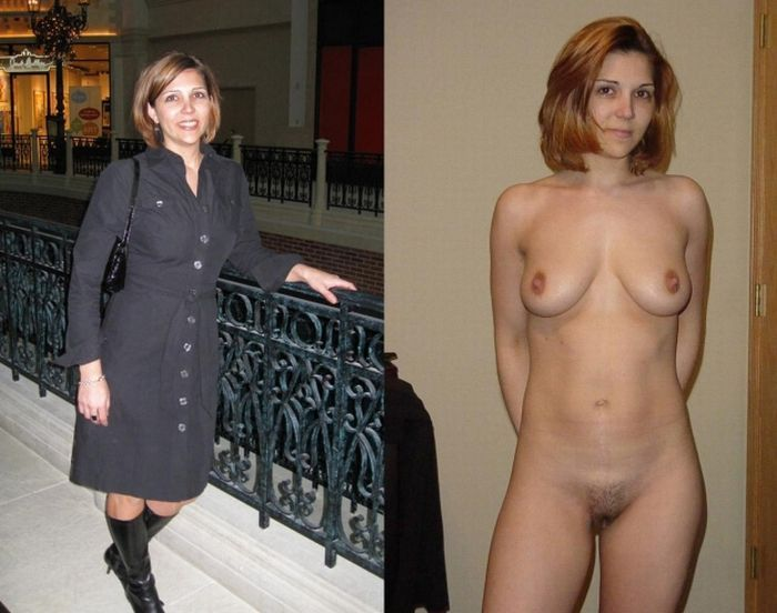 Girls with and without clothes - feel the Difference - 44