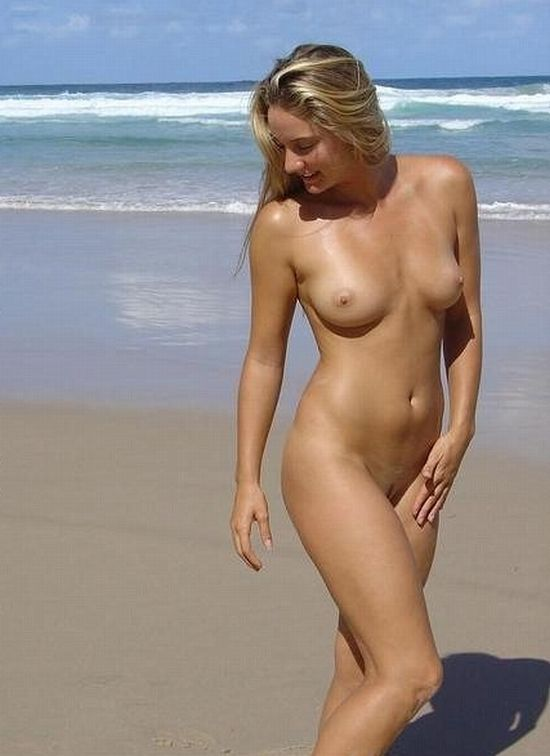 Hot summer and naked girls on the beach - 17