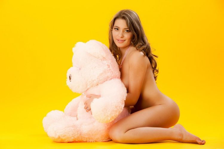 Pretty Patricia and a teddy bear - 04