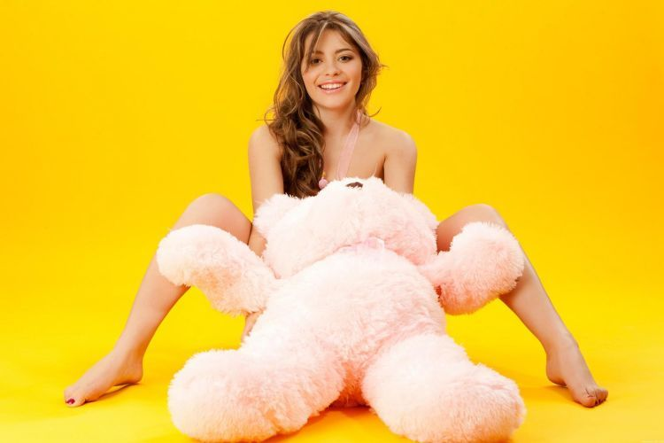 Pretty Patricia and a teddy bear - 06