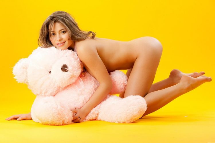 Pretty Patricia and a teddy bear - 07