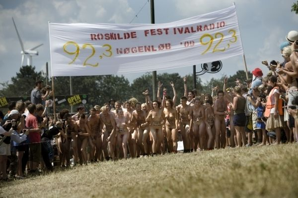 Naked sprint at the Roskilde Music Festival - 23