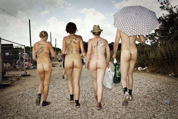 Naked sprint at the Roskilde Music Festival - 29