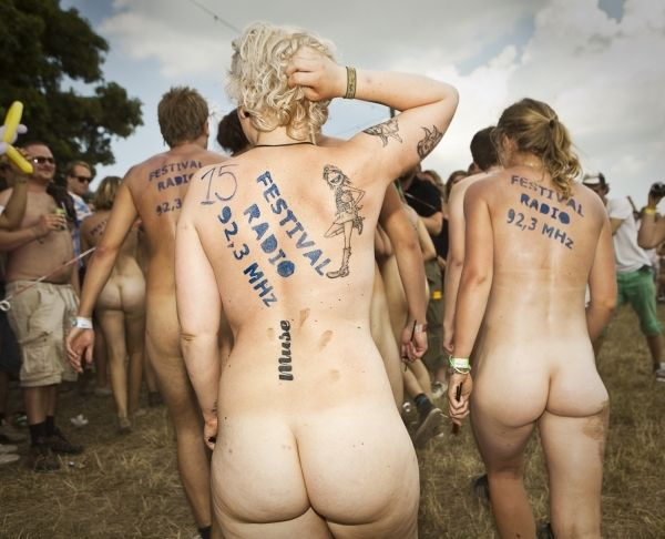 Naked sprint at the Roskilde Music Festival - 30