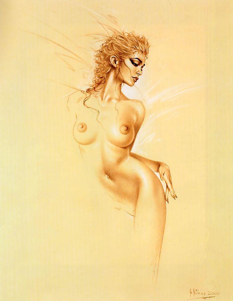 девушка рисунок голая