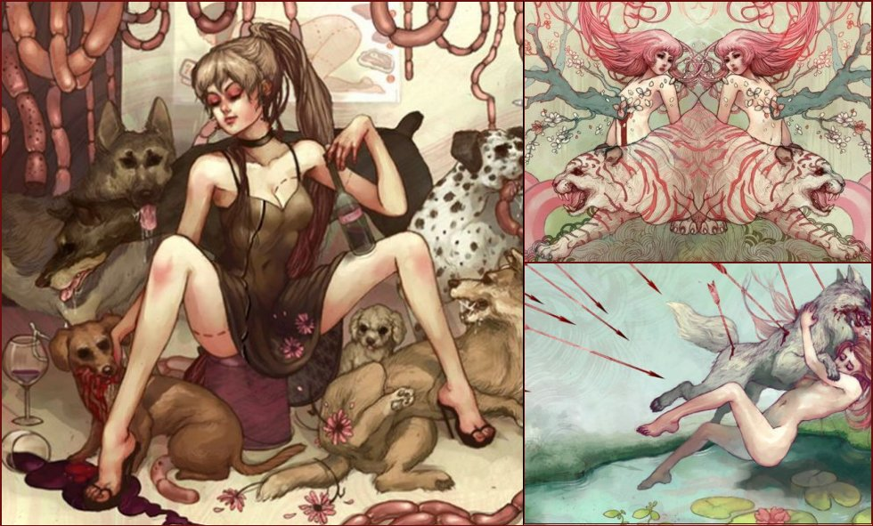 Adult pictures of fairy-tale characters from the artist Chelsea Greene Lewyta - 15