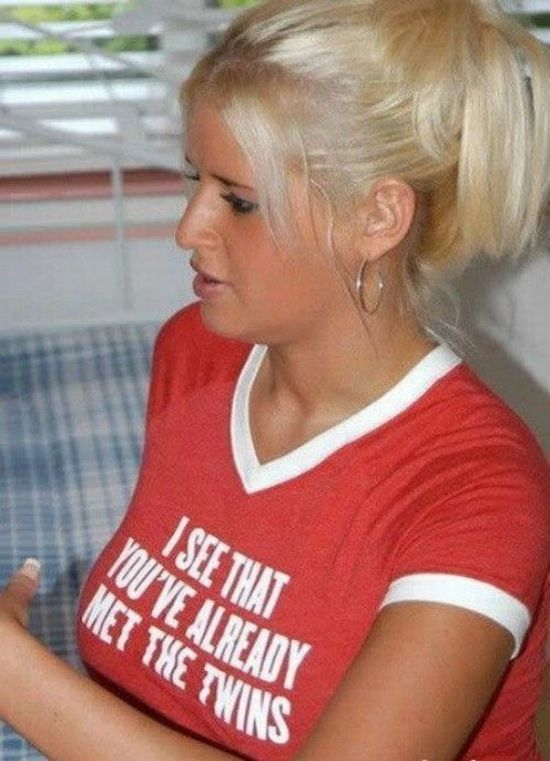 Girls in funny t-shirts - 36