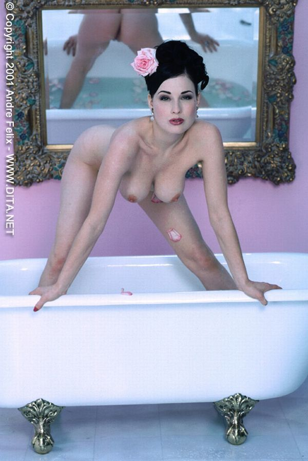 Big collection of erotic photos of burlesque queen Dita von Teese - 22