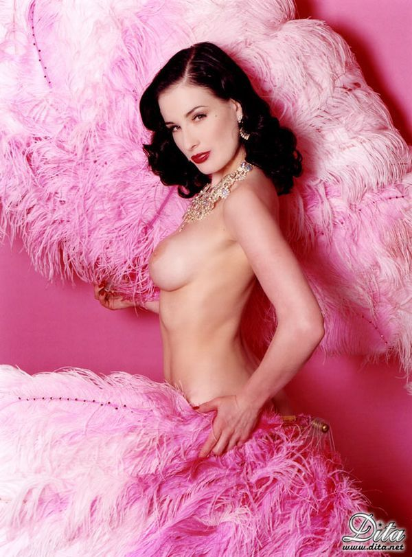 Big collection of erotic photos of burlesque queen Dita von Teese - 24