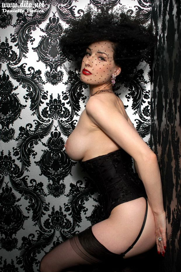 Big collection of erotic photos of burlesque queen Dita von Teese - 35