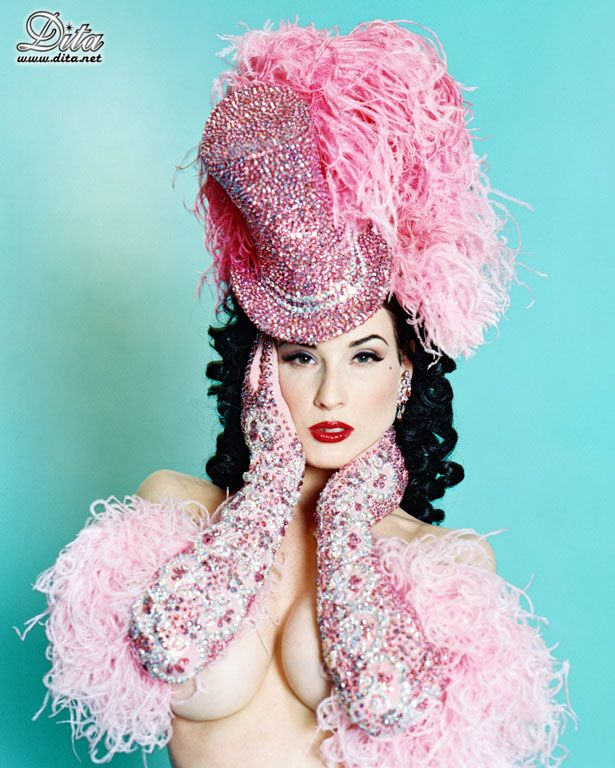 Big collection of erotic photos of burlesque queen Dita von Teese - 68