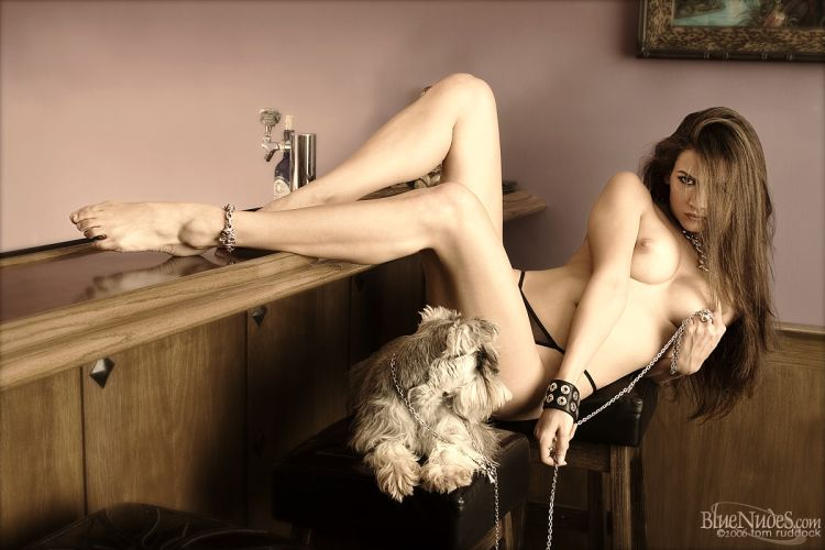 Naked ladies with dogs - 11