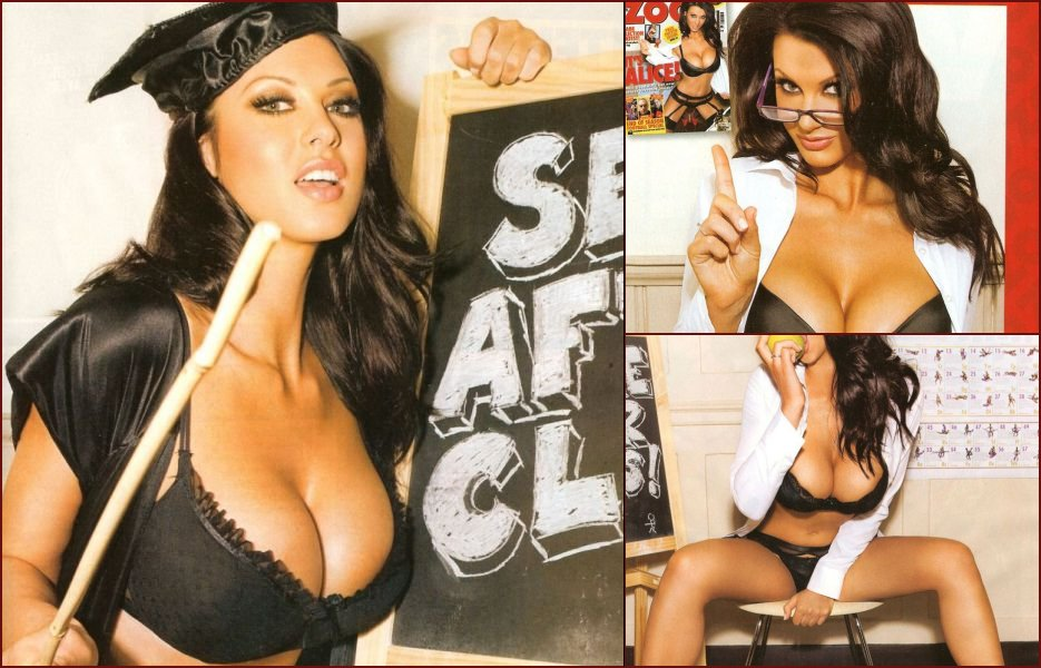 Alice Goodwin showed her boobs in the ZOO magazine again - 20
