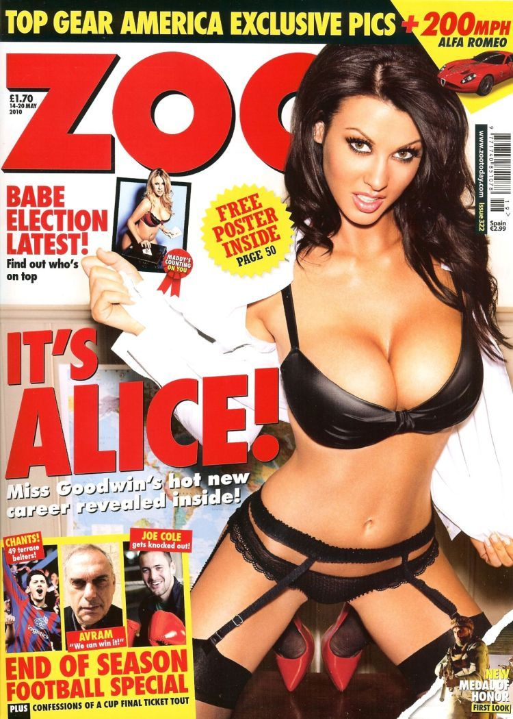 Alice Goodwin showed her boobs in the ZOO magazine again - 01