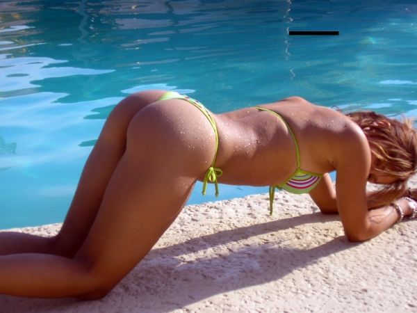Summer girls in a doggy-style pose - 11