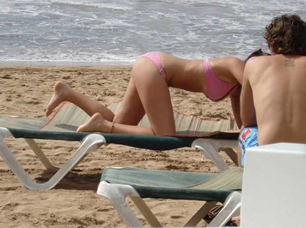 Summer girls in a doggy-style pose - 15