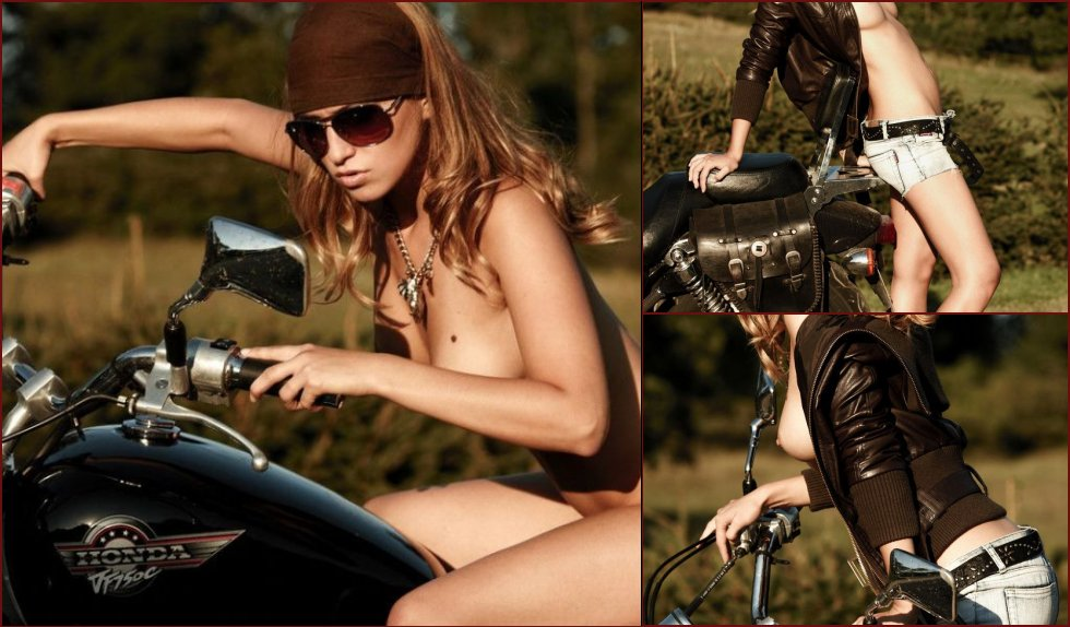Cool girl and cool bike - 4