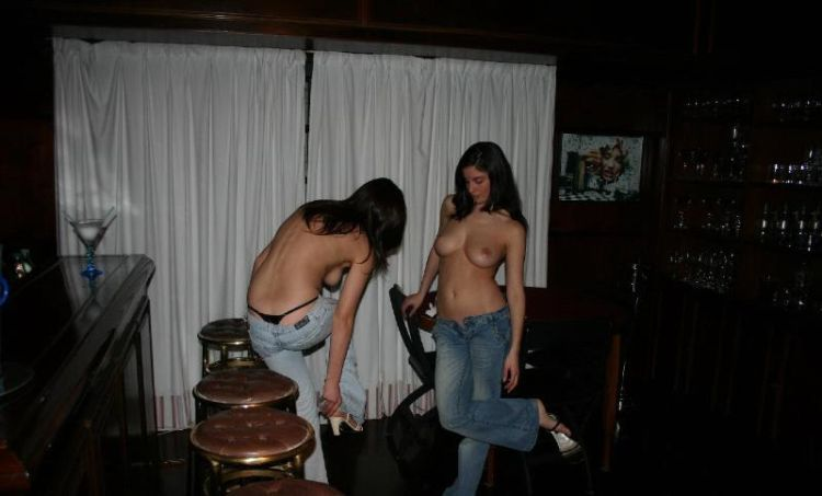 Two drunken wicked women made a great show in a bar - 06