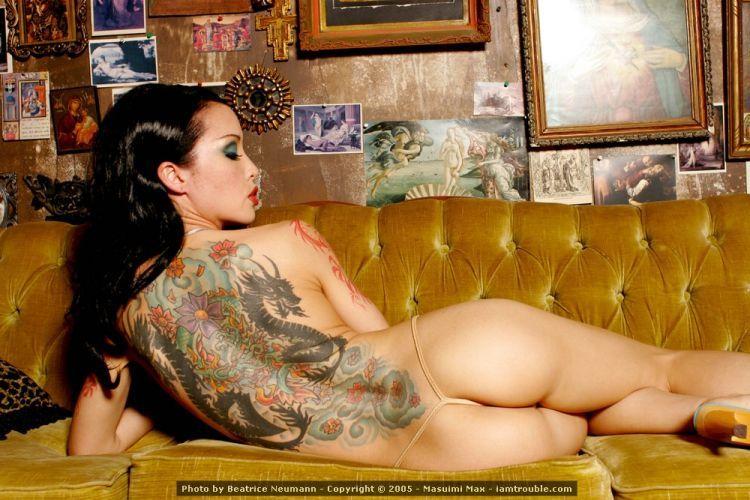 Tattooed brunette Masuimi Max - 10