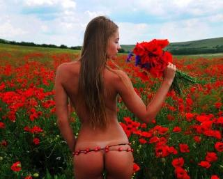 Girls like flowers and they fit together very well