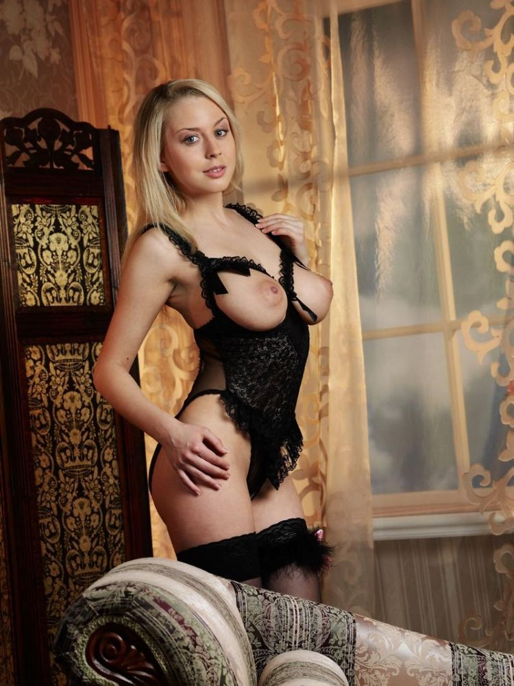 Blonde in erotic lingerie - 10