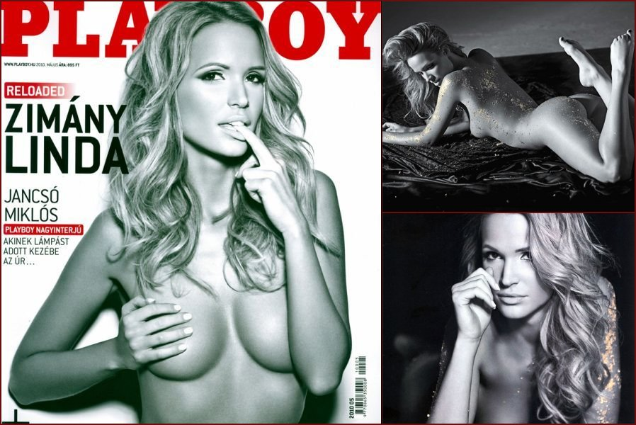 Linda Zimany in black and white photoshoot for Playboy - 7