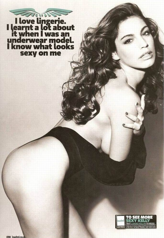 Kelly Brook topless in Loaded magazine - 02