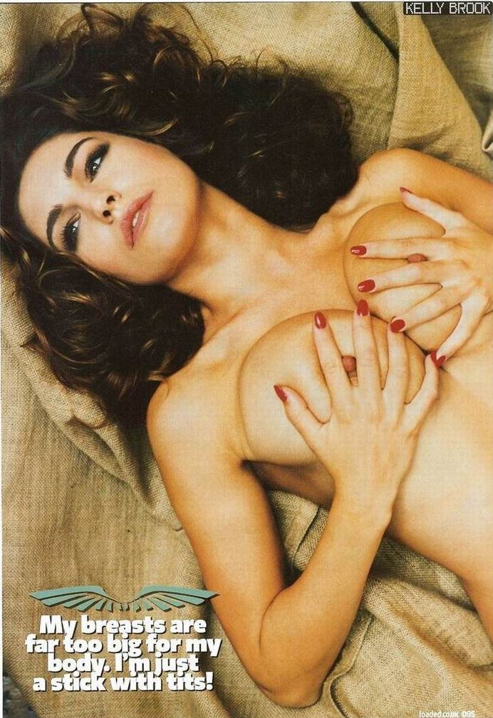 Kelly Brook topless in Loaded magazine - 03