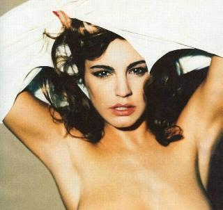 Kelly Brook topless in Loaded magazine