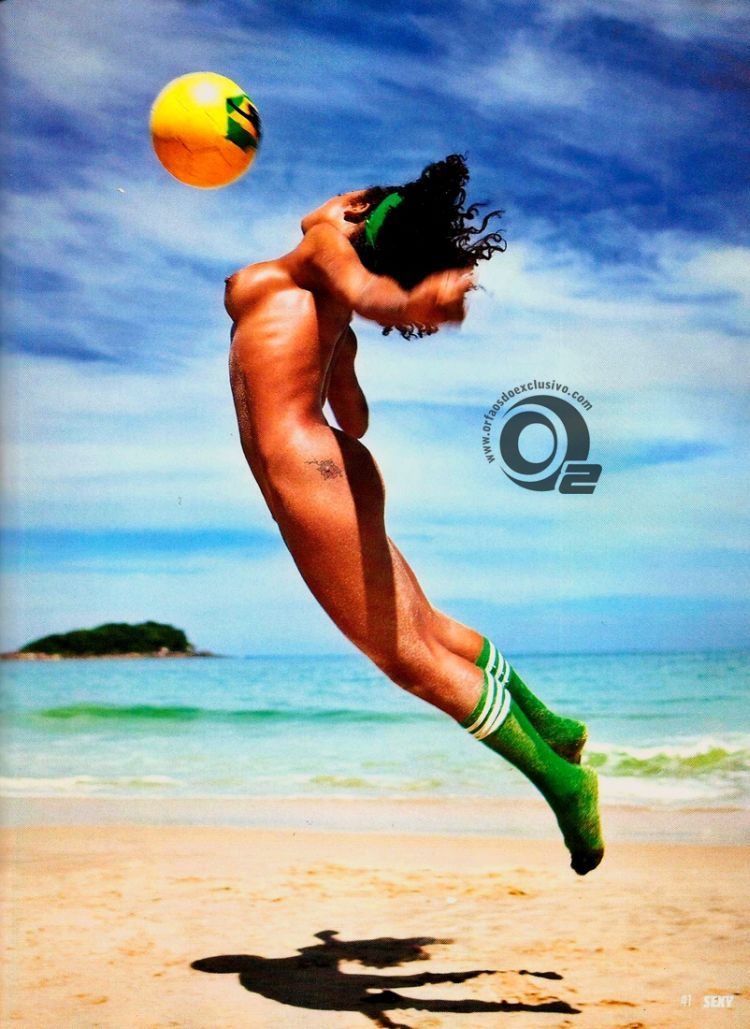 Girls playing beach volleyball naked in the recent issue of Sexy magazine - 08