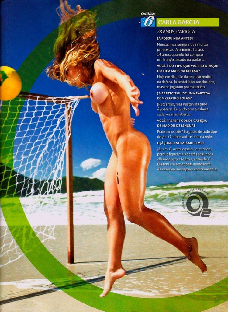 Girls playing beach volleyball naked in the recent issue of Sexy magazine - 14