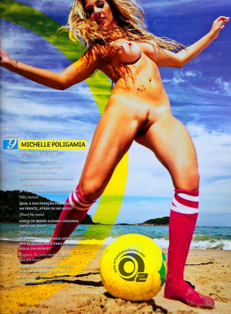Girls playing beach volleyball naked in the recent issue of Sexy magazine - 16