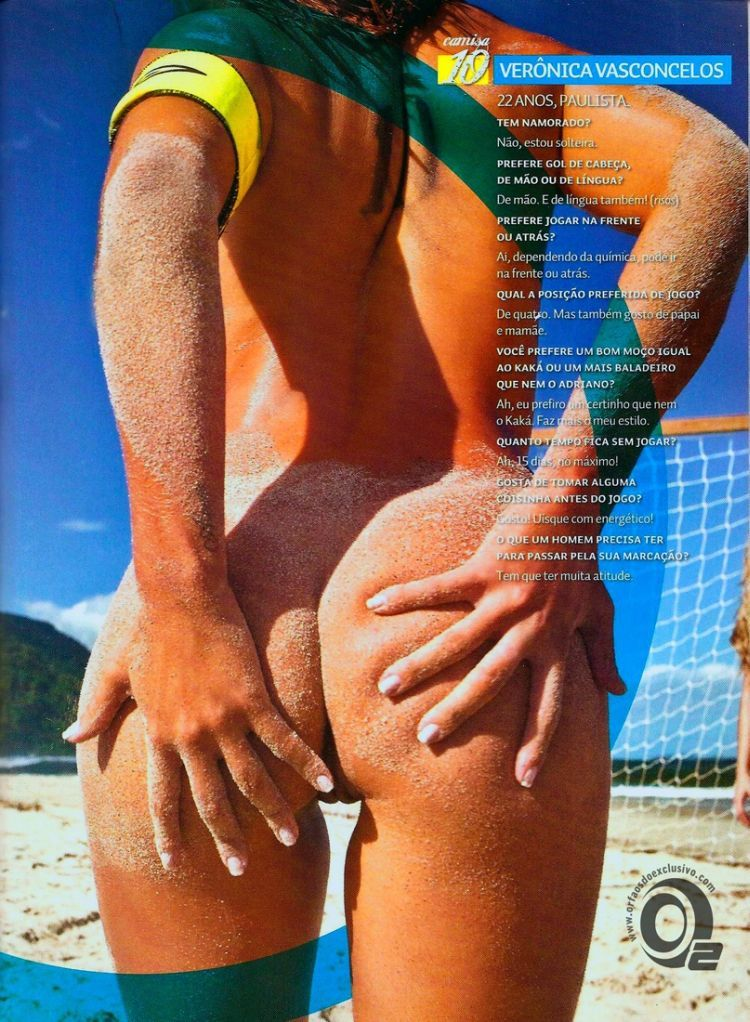 Girls playing beach volleyball naked in the recent issue of Sexy magazine - 18