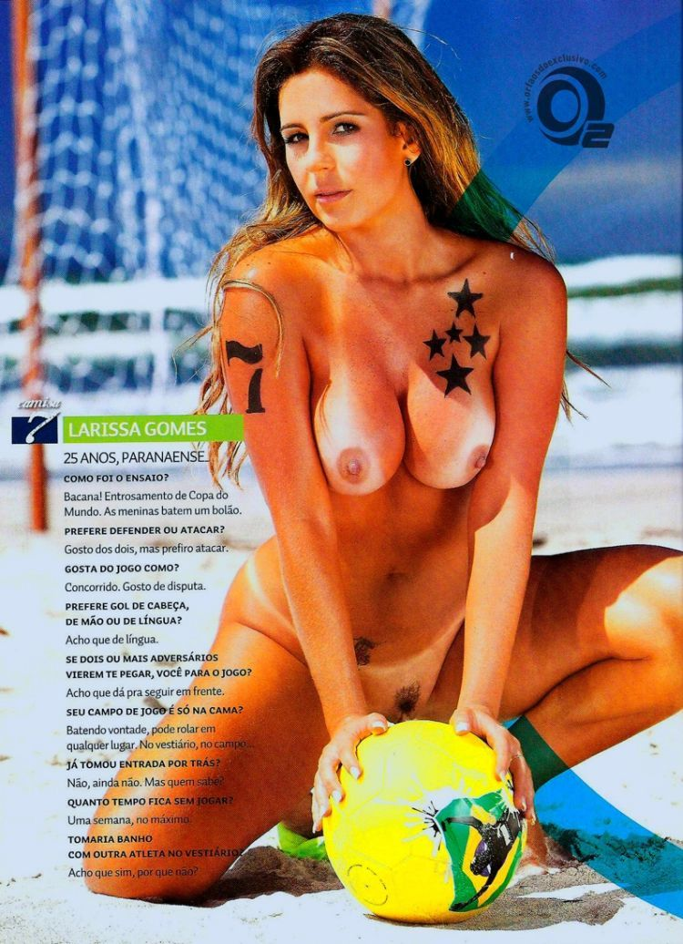 Girls playing beach volleyball naked in the recent issue of Sexy magazine - 19