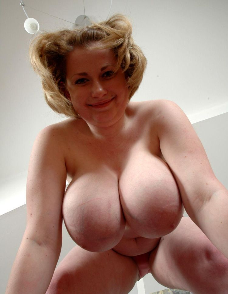 Very large naked breasts