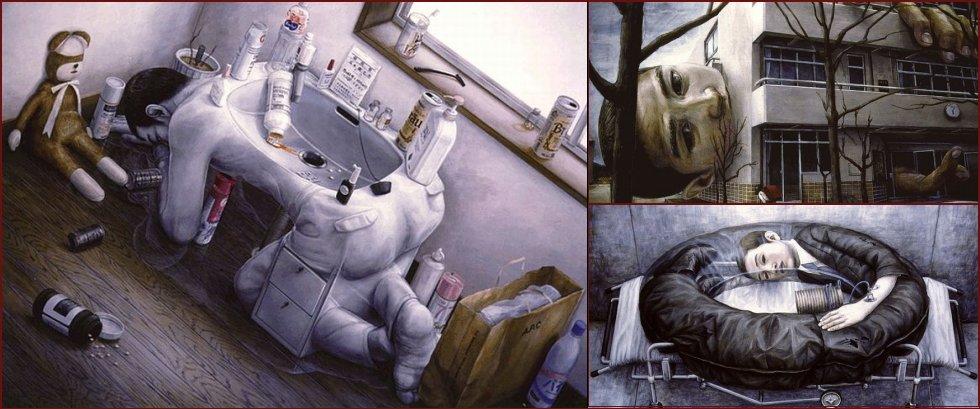Paradoxical drawings by Japanese artist Tetsuya Ishida - 9