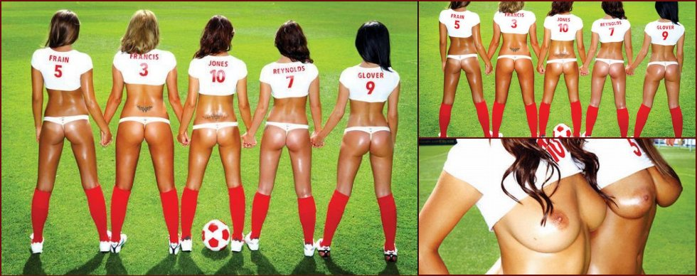Another erotic photo set devoted to the World Cup 2010 - 11