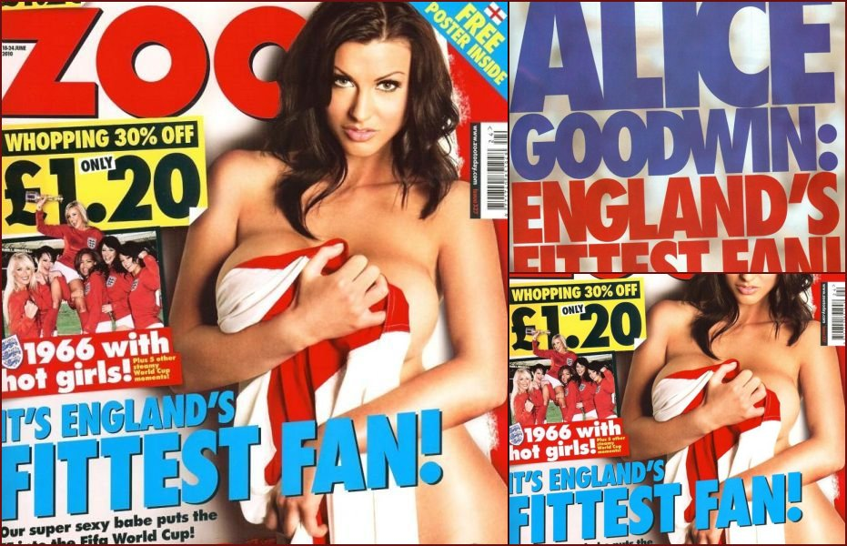 Alice Goodwin bared her boobs to support English soccer team - 18
