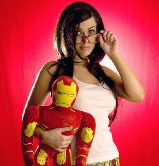 Violet Erotica, the hottest fan of Iron Man