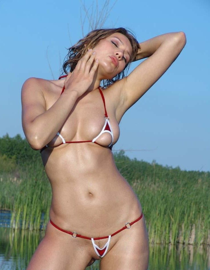 Micro-bikinis, it'd be great if every girl wore such a swimming suit - 18