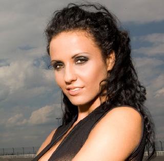 Daniela Golm, a beautiful brunette in Playboy magazine